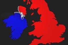 Illustrationidé för Irland som är Brexit ` u2019s som ångrar stock illustrationer