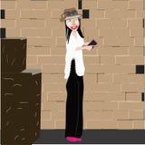 Illustrationidé för ung kvinna royaltyfri foto