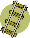 illustrationjärnvägstänger utbildar vektorn Royaltyfri Fotografi
