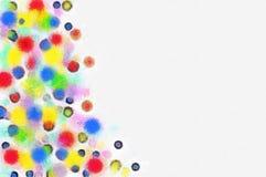 Illustrationjulgran med färgrika leksaker Arkivbilder