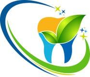 Tand- växt- logo royaltyfri illustrationer