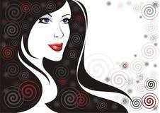 illustrationkvinna royaltyfri illustrationer