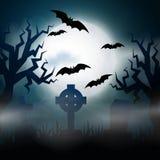 Illustrationl effrayant de Halloween de nuit Photos libres de droits