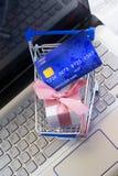 illustrationlinje shopping för begrepp 3d Royaltyfri Fotografi