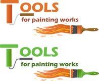 illustrationmålningen tools vektorarbeten Fotografering för Bildbyråer
