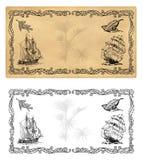 Illustrationmall för kryddaetiketter stock illustrationer