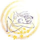 illustrationmassagebrunnsort Arkivfoto