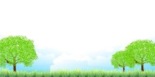 Illustrationmaterial som föreställde ny gräsplan arkivfoto