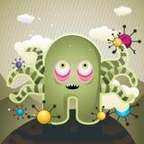 illustrationmonsterbläckfisk Arkivfoton