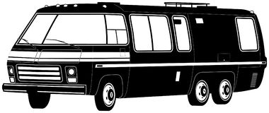 illustrationmotorhome Arkivbilder