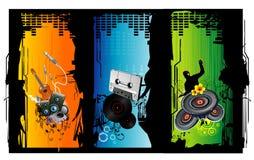 illustrationmusikvektor royaltyfri illustrationer