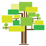 Illustrationn of tree template. Infographic design, tree template for business and education concept Royalty Free Stock Photo