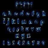 Illustrationof paper crafting alphabets. Royalty Free Stock Image