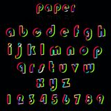 Illustrationof paper crafting alphabets. Royalty Free Stock Photos