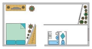 illustrationorienteringslokal vektor illustrationer