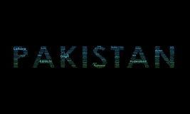 illustrationpakistan typografi arkivbilder
