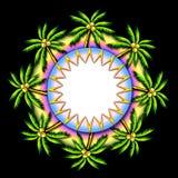 illustrationpalmträd royaltyfri illustrationer