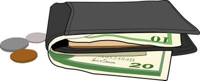 illustrationplånbok Arkivfoton
