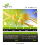 Illustrations 2010-0252. Website template, you can easly edit it by adobe illustrator, flash or photoshop to publish it as  web pages Stock Images