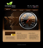 Illustrations 2010-0290. Website template, you can easly edit it by adobe illustrator, flash or photoshop to publish it as  web pages Royalty Free Stock Photos