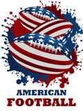 Illustrations 2010-0308. American football background, usa number one sport Stock Image