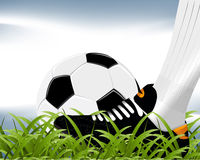 Illustrations 2010_0736. Player wearing black shoe and shooting football Royalty Free Stock Photo