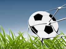 Illustrations 2010_0738. Goal moment,soccer ball in a net Royalty Free Stock Photo