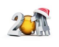 Illustrations 2012 du chapeau 3d de Santa de bonne année Images libres de droits