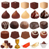 Illustrations assortment of different sweets Royalty Free Stock Photo