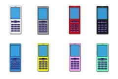 Illustrations, beaucoup de couleur de mobile de téléphone Image stock