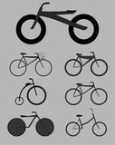 Illustrations Bicycles. Set of illustrations on the theme of the bike Royalty Free Stock Images