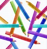 Illustrations-Bleistift-nahtloses Muster. Vektor Stockbild