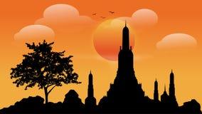 Illustrations bouddhistes de vecteur d'attractions illustration libre de droits