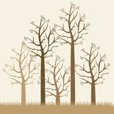 Illustrations of brown trees Royalty Free Stock Photography