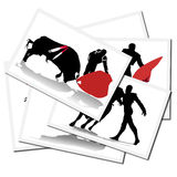 Illustrations with a bullfighter in Spain Stock Image