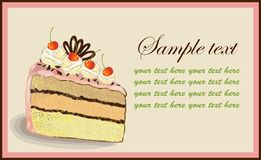 Illustrations of the cake. Stock Photography