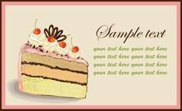 Illustrations of the cake. Beautiful batch.Illustration Stock Photography