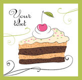 Illustrations of the cake Royalty Free Stock Photo