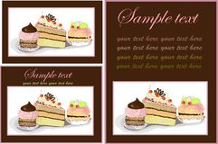 Illustrations of the cake. Menu. Royalty Free Stock Image