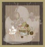 Illustrations of the cake. Menu. Royalty Free Stock Photos