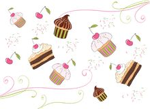 Illustrations of the cakes Royalty Free Stock Image