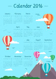 Illustrations calendar for 2016 Stock Image