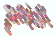 Illustrations of capsules, medicine or pills. Graphic, background, design & medication. Illustrations of capsules, medicine or pills. Good for web page stock illustration