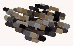 Illustrations of capsules, medicine or pills. Vitamin, healthy, color & style. Illustrations of capsules, medicine or pills. Good for web page, wallpaper stock illustration