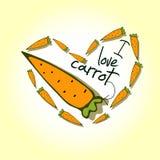 Illustrations, carottes d'amour de l'impression I Photo stock