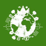Illustrations of concept earth  icons of ecology, environmen Royalty Free Stock Photography