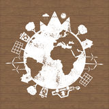 Illustrations of concept earth icons of ecology, environmen Stock Photography