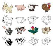 Illustrations d'animal de ferme de bande dessinée Image libre de droits