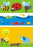 Illustrations d'animaux réglées Images stock