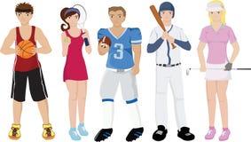 Illustrations d'athlètes Photos stock